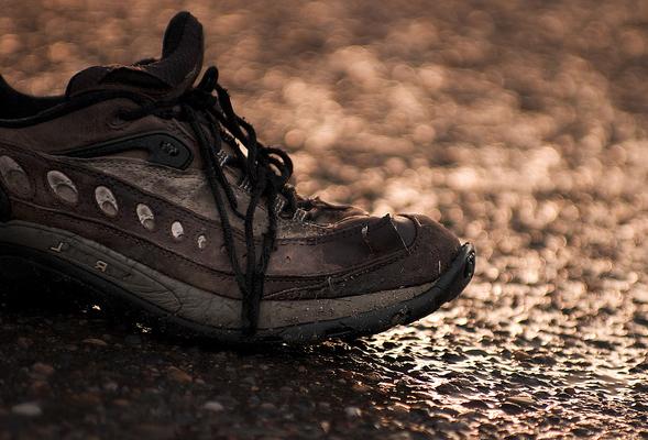 обувь в дождь