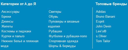 мужской каталог Отто 2011