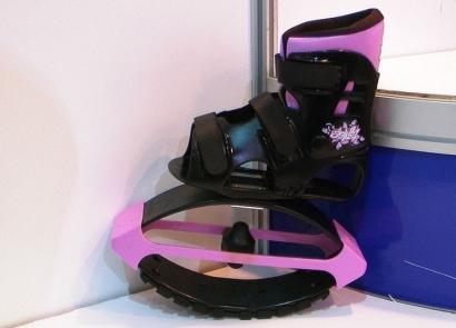 розовые ботинки прыгуны