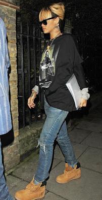с чем женщины носят тимберленды